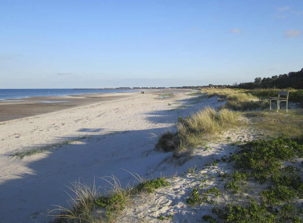 The long beach in Oster Hurup is suitable for walks year round