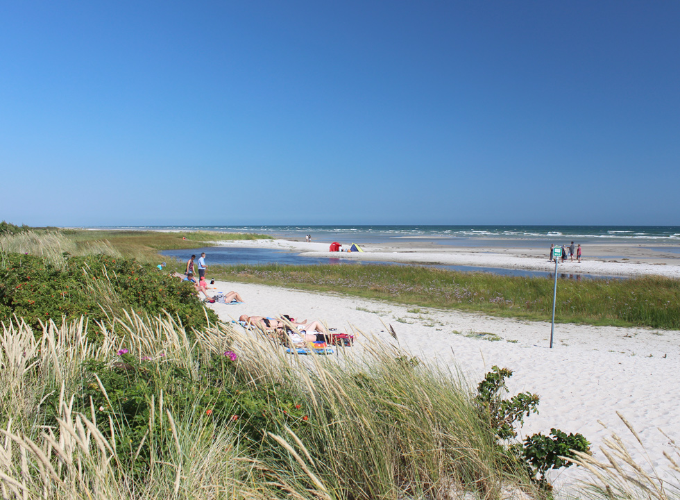 A lovely summer day on the beach of Oster Hurup