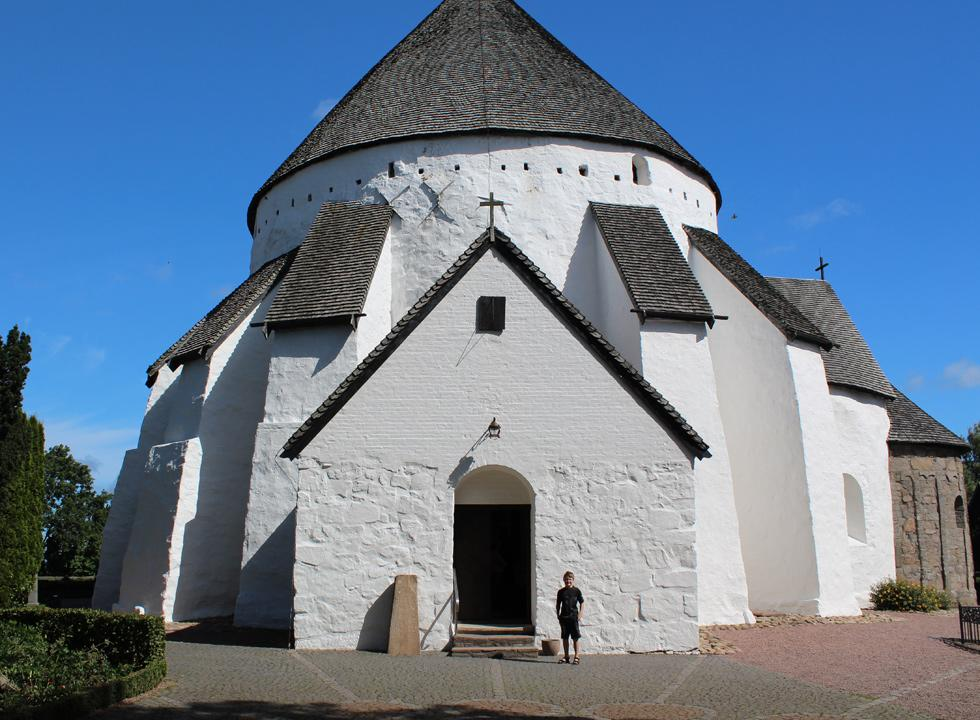 Denmark's largest round church, Østerlars Rundkirke, is situated just 4 km from Østermarie