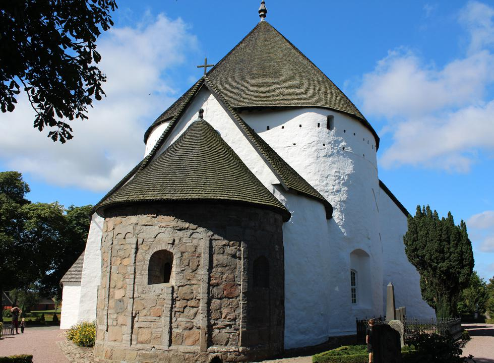 Experience Bornholm´s largest round church in Østerlars, 4 km from Østermarie