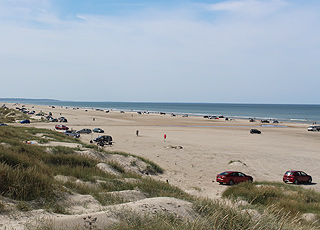 Summer day on the beach of Rødhus