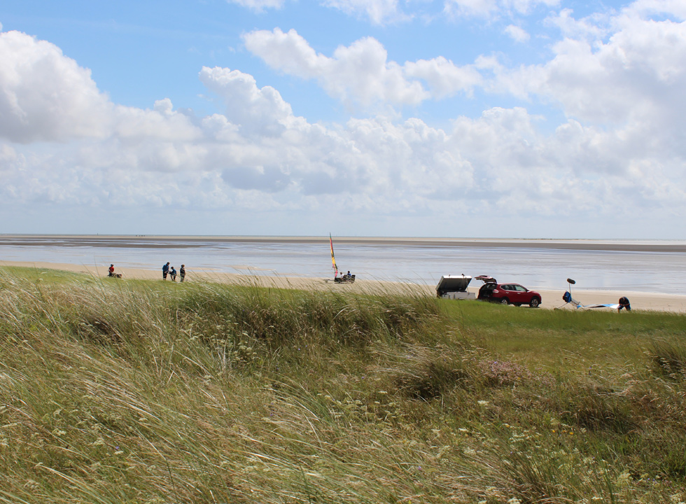 View of the beach Sonderstrand, 2 km from the centre of Havneby on Romo