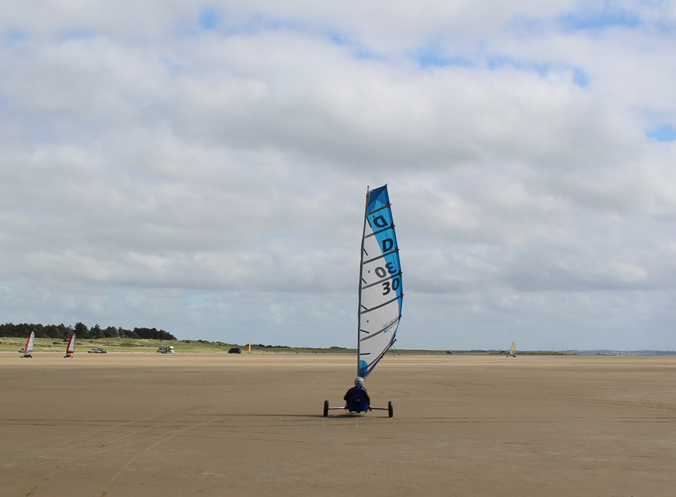 The wide beach Sønderstrand near Romo, Havneby is ideal for beach sailing