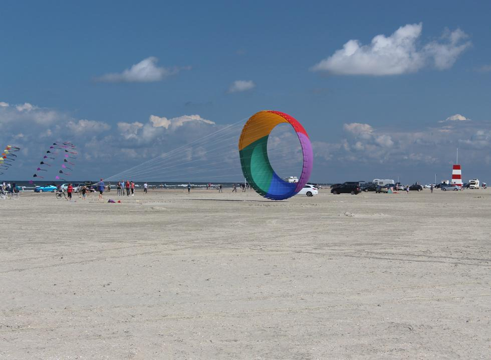 The beach, Lakolk Strand, is very suitable for kite flying and various beach activities
