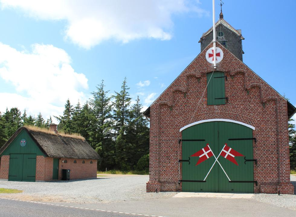 The fire station of Rømø has been established in the old rescue house, which is located near Rømø, Vesterhede