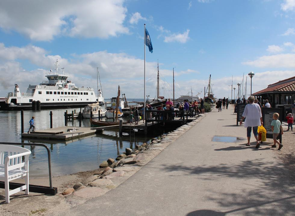 The ferry harbour in Rørvig offers more eateries and a cosy atmosphere