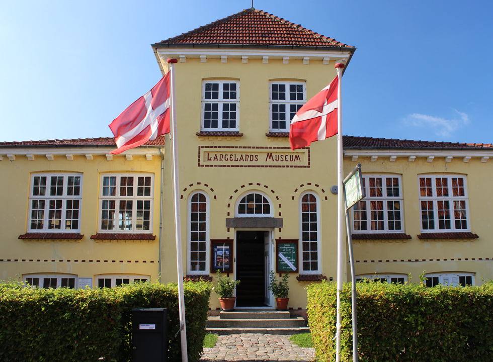 Langelands Museum in Rudkøbing has been established in a beautiful old building