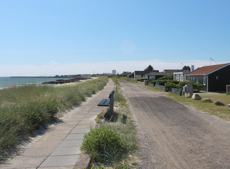 View towards the centre of Sæby from the holiday home area by the beach