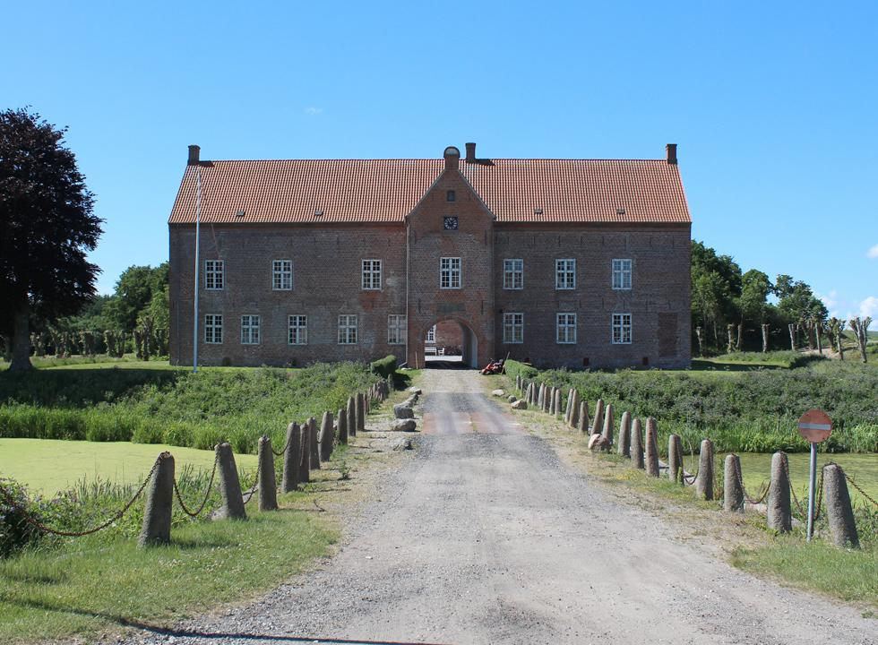 The entrance to the castle, Sæbygaard Slot, in the outskirts of Sæby