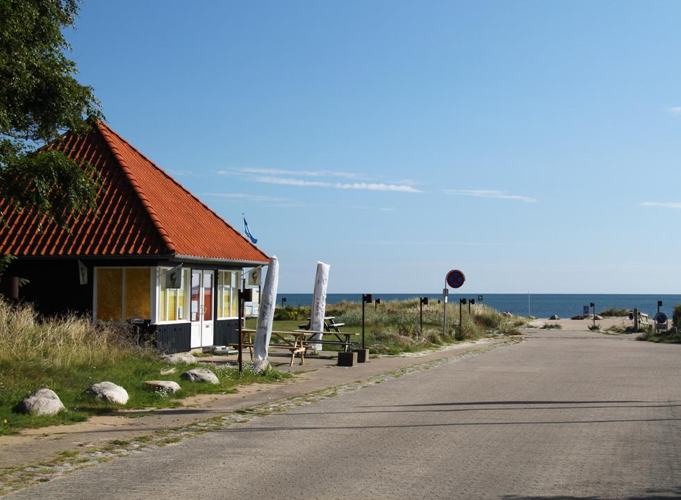 Ice cream stall by the entrance to the beach in Sæby