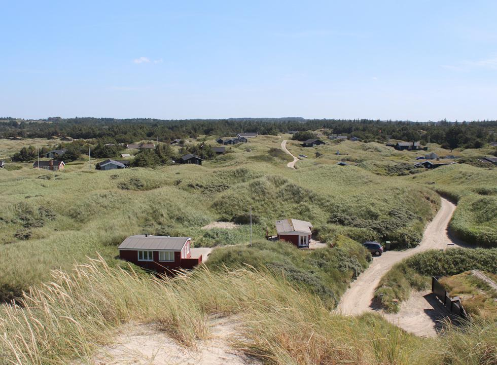 Well-situated holiday homes behind the beach of Saltum