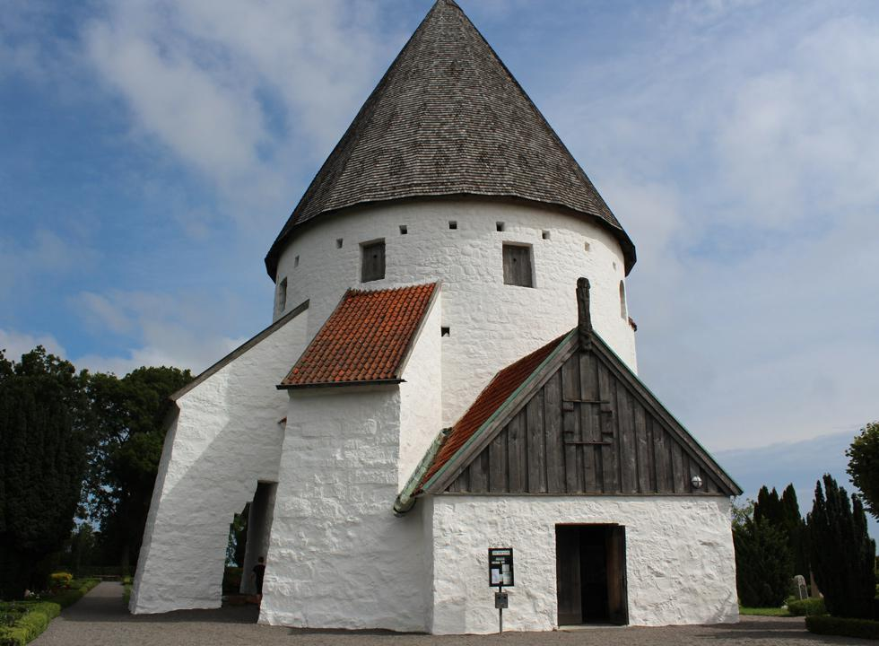 Go exploring in and around the round church, Olsker Rundkirke, 4 km from Sandkås
