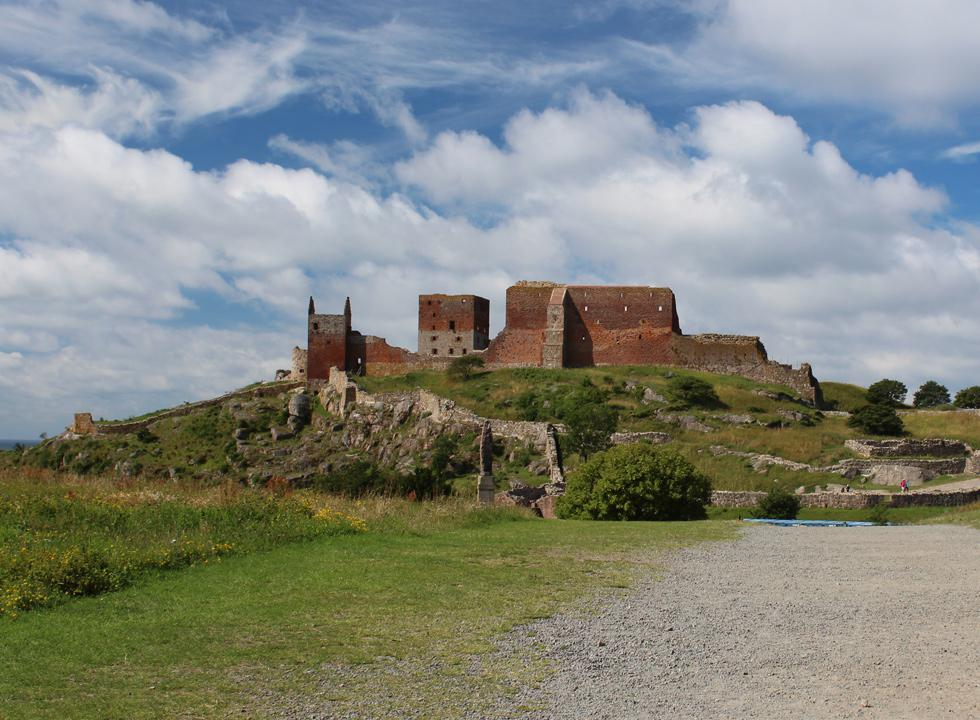 Experience the largest sight of Bornholm, the old castle ruin Hammershus, 8 km from Sandkås