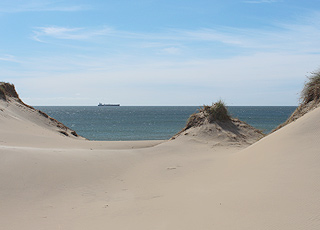 View from the high dunes, Damstæderne, in the southern part of Skagen Vesterby