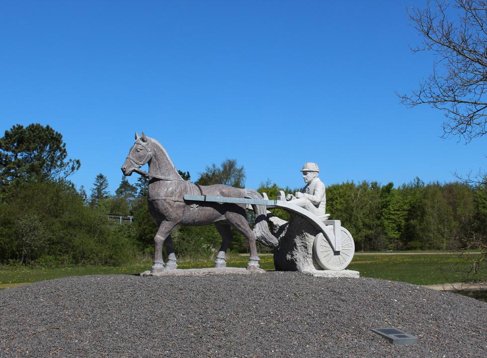 Statue by the racing track in the outskirts of Skive