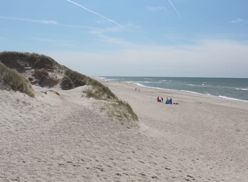 View towards the southern part of the bathing beach of Skodbjerge