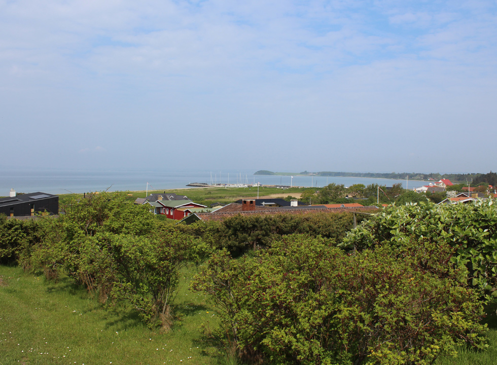 View of the bay and the holiday homes in the holiday area Skødshoved