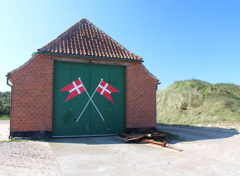 The rescue house on the beach of Slettestrand