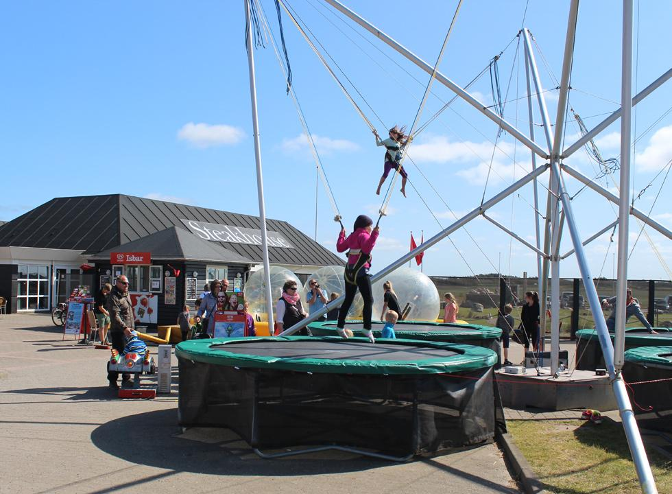 The children can gambol in the fun activities in the centre of Sondervig