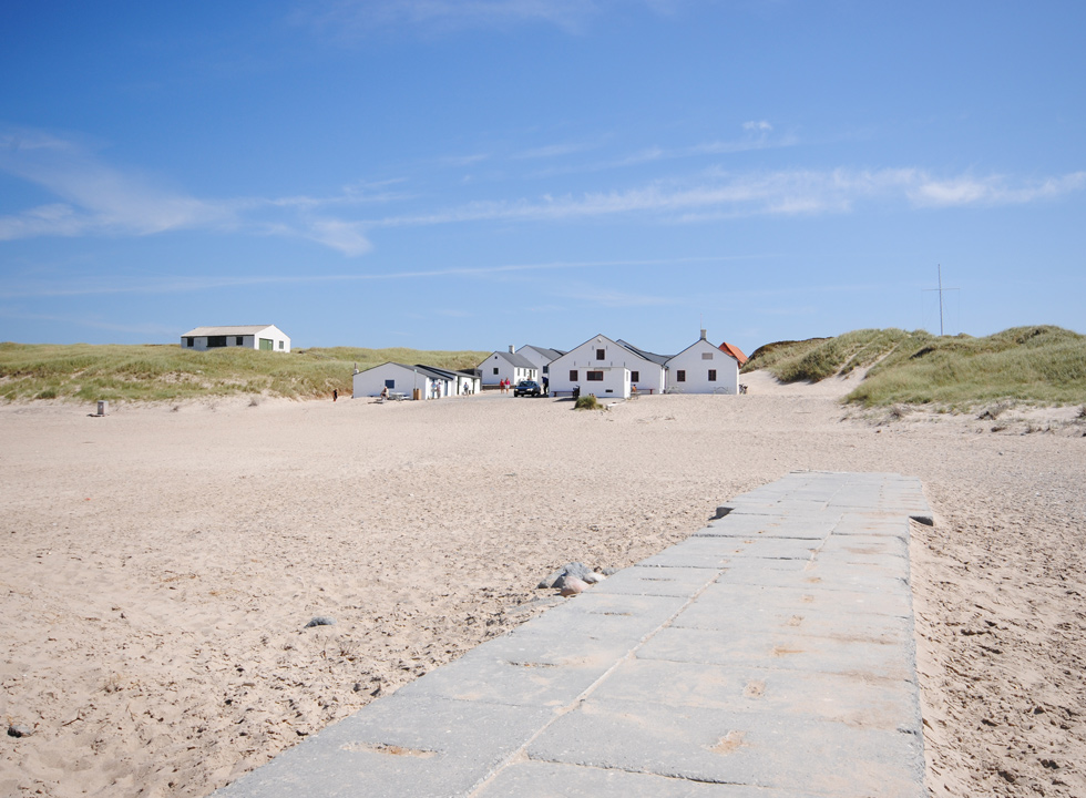 The tiled path to the water in Stenbjerg