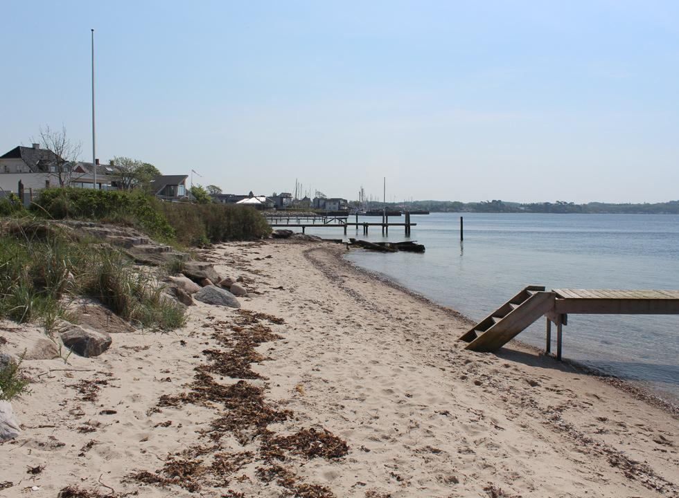 View towards the marina in Strib from the beach of Strib Odde