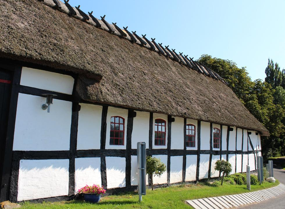 One of the idyllic half-timbered houses behind the holiday home area Tårup