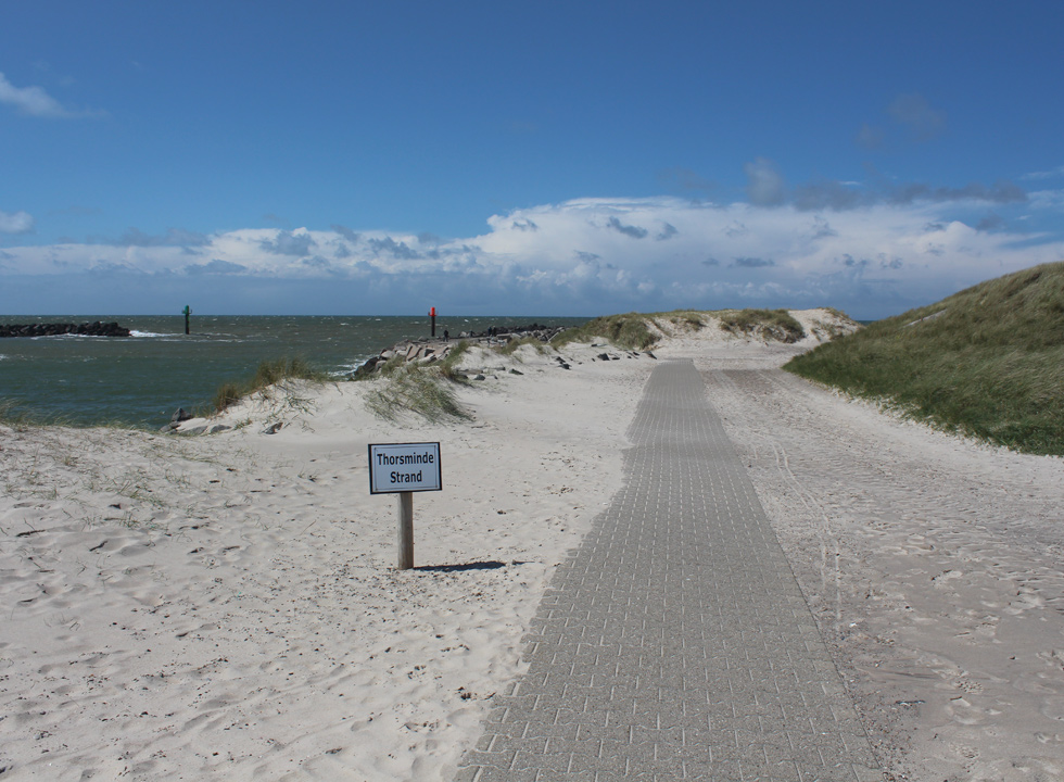 The path, which leads to the lovely bathing beach of Thorsminde
