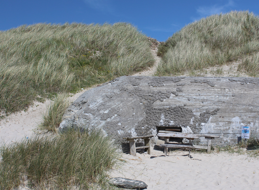 Remains of a bunker on the way to the beach in Thorsminde