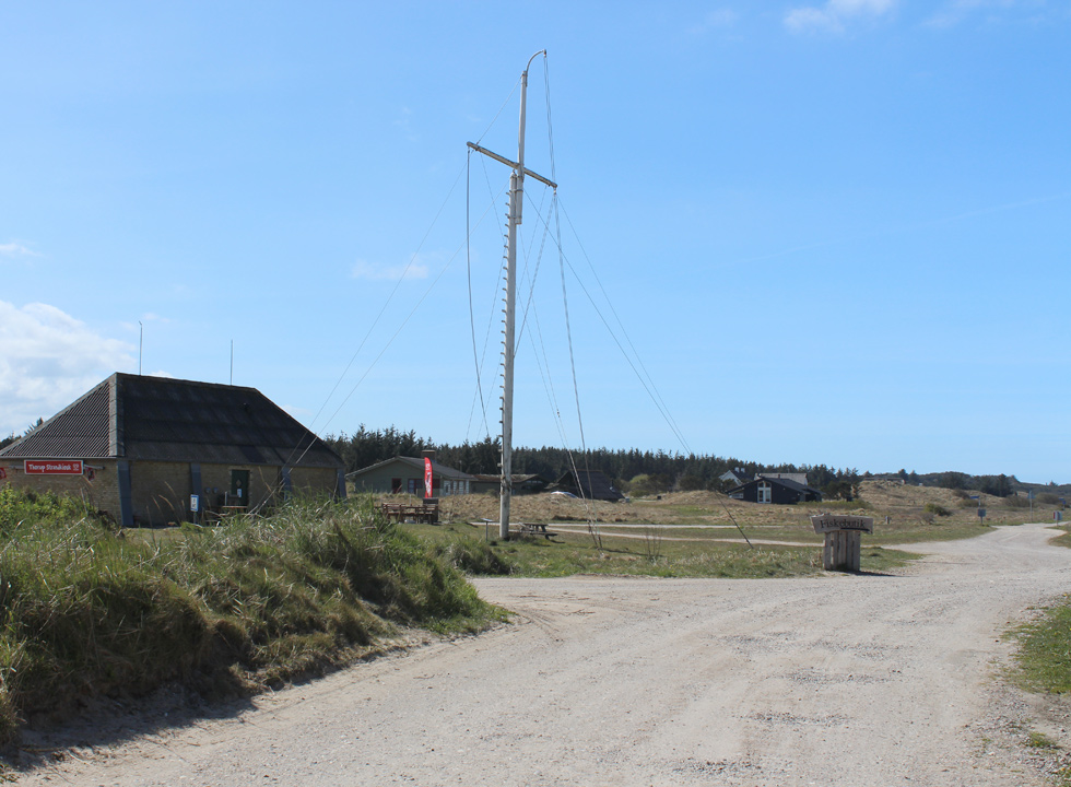 Holiday homes in the hilly dune landscape in the holiday area Thorup Strand