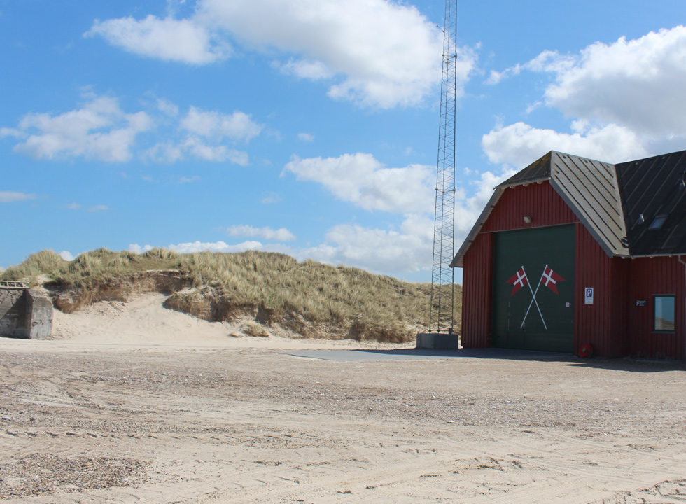 Rescue house on the beach in Thorup Strand