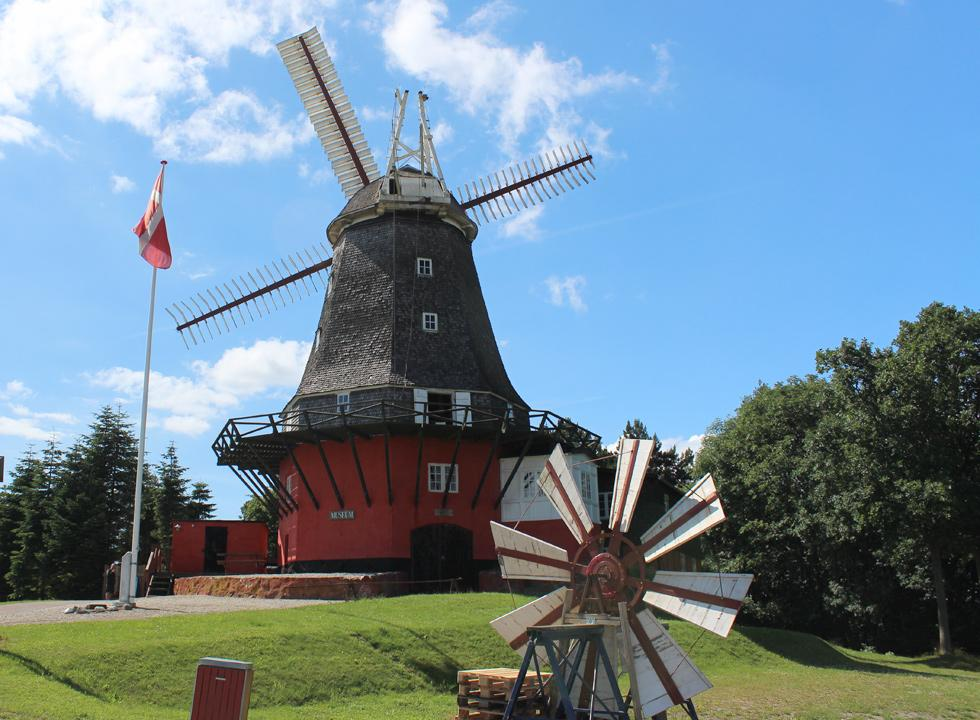 The castle mill, Tranekær Slotsmølle, from 1846 is beautifully restore and functions as a museum today