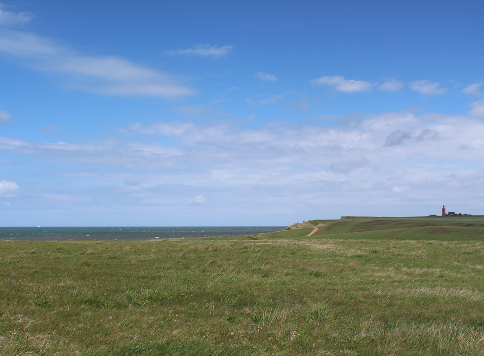 Between the lighthouse, Bovbjerg Fyr, and the holiday homes in Trans you will find a hilly and green landscape