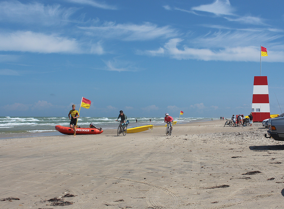 Summer activities on the beach in Tversted