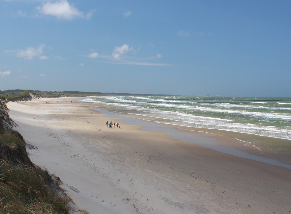 The wide sandy beach in the southern part of Tversted