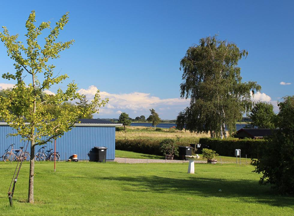 View of the Isefjord between the holiday homes in Udby