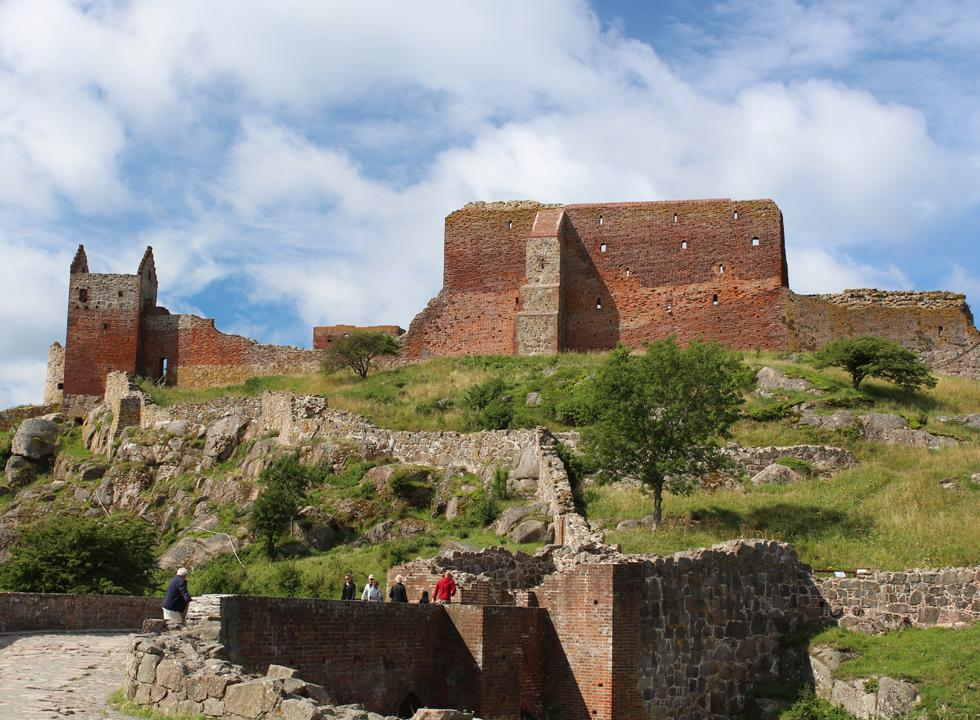 The impressive building, Hammershus, is Scandinavia's largest castle ruin, and located 6 km from Vang