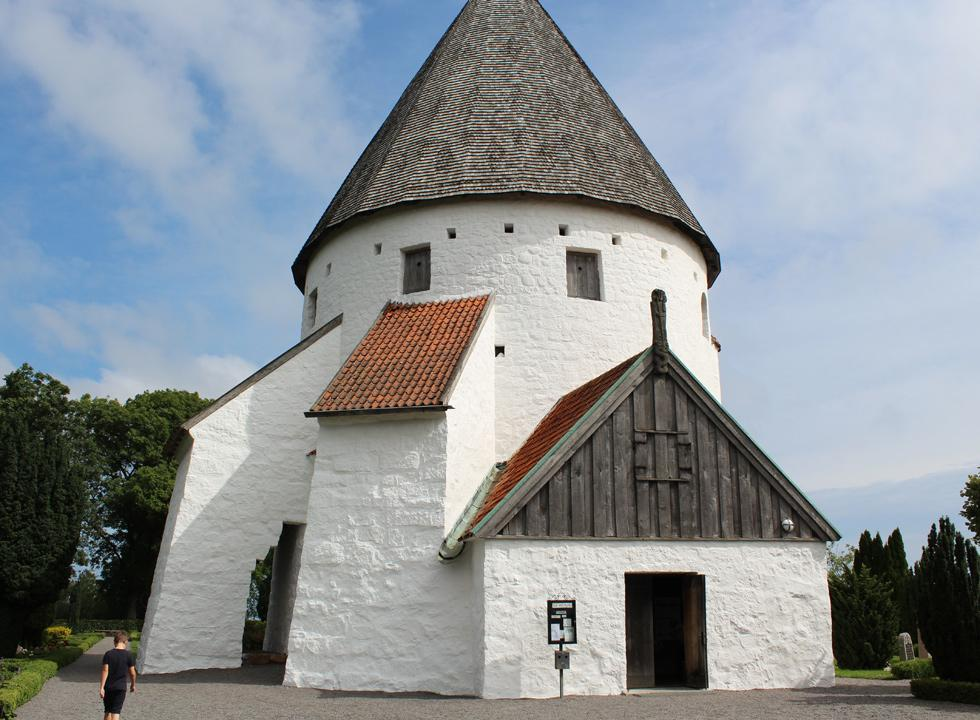 Olsker Rundkirke is the highest of the four round churches on Bornholm and is located 7 km from Vang
