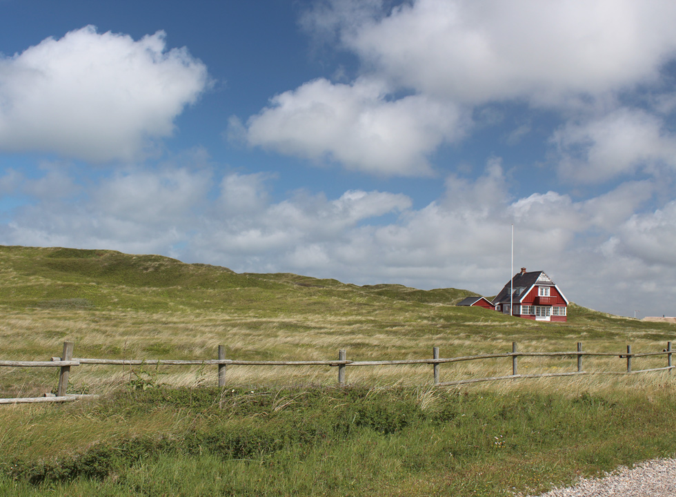 Holiday home in the hilly dune areas behind the North Sea in Vejlby Klit