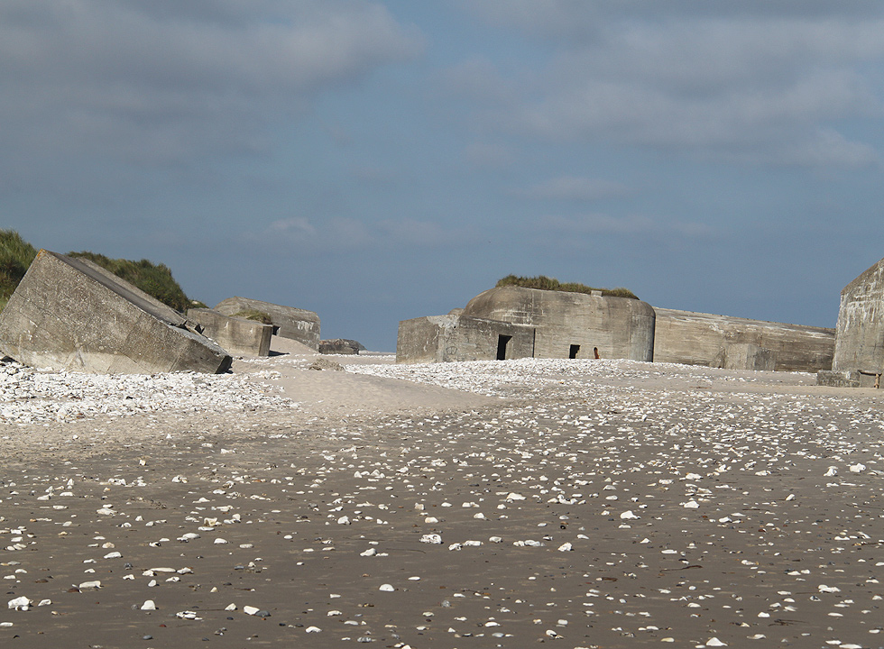 Bunkers on the beach in Vigsø